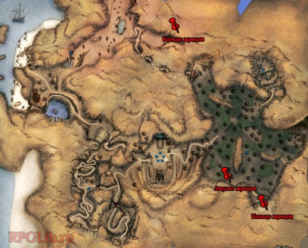 Карта комплекта жрецов