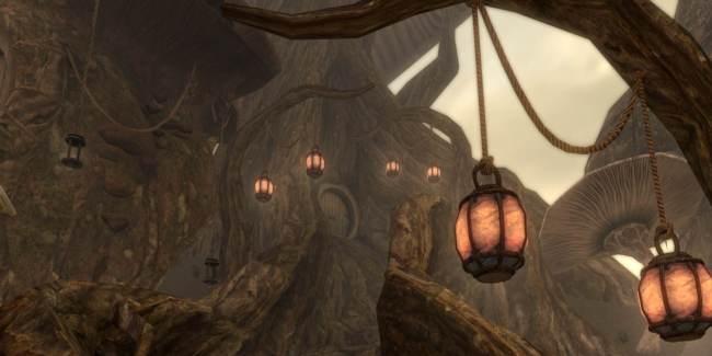 """Вид на главную башню в поселении Тель-Митрин Скриншот: """"UESPWiki"""""""